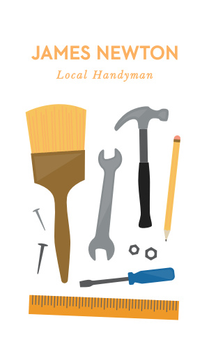 he Handyman Contractor Business Card is perfect for a handyman, contractor, or remodeling company.