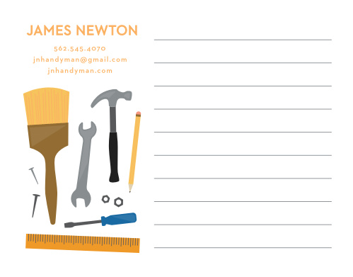 he Handyman Contractor Business Stationery is perfect for a handyman, contractor, or remodeling company.