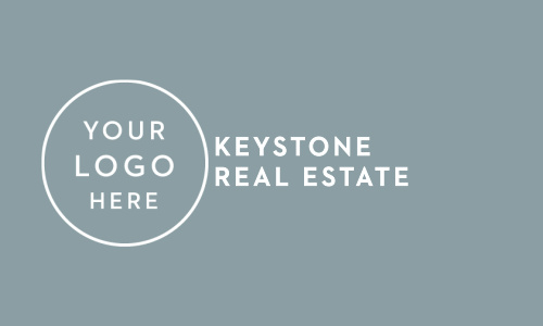Design the front of the House & Home Logo Business Cards with your logo featuring a clean, modern look.