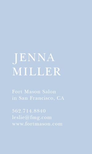 Our Basic Card Portrait Business Cards were designed for the minimalists.
