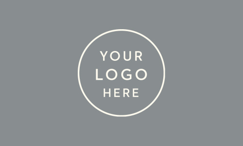Our Landscape Layout Logo Business Cards feature a spot for your logo, atop a colored background.