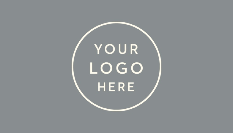 Our Logo Landscape Business Cards feature a spot for your logo, atop a colored background.