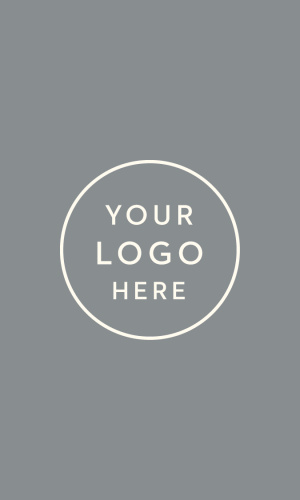 Our Portrait Layout Logo Business Cards feature a spot for your logo, atop a colored background.
