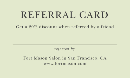 Our Referral Card Landscape Business Cards are designed so that you can expand your clientele and reward your loyal clients!