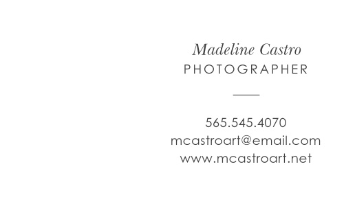 Our Photo Blog Logo Business Cards offer a gorgeous representation of yourself and your business, containing all of the information that your clients would ever need. You details are written on the righthand side in a thin, elegant type, while your company's logo decorates the left side. With these stunning cards representing you, your clients won't even consider anyone else an option.