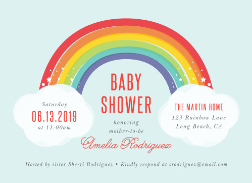 Baby shower invitations 40 off super cute designs basic invite rainbow bright baby shower invitations filmwisefo