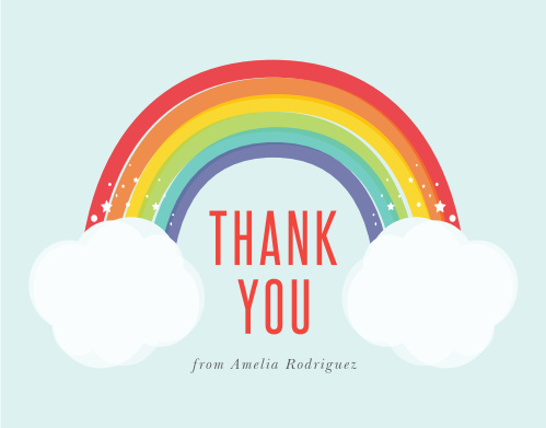 Brighten up your loved ones' day with our Rainbow Bright Baby Shower Thank You Cards.