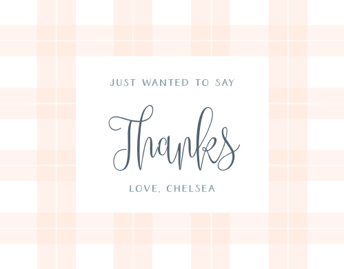 Our Pretty Plaid Baby Shower Thank You Cards are a gorgeous combination of classic plaid and hand-written text.