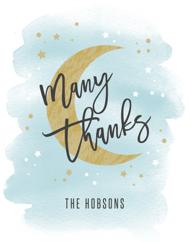 Share your gratitude with friends and loved ones with our Over the Moon Baby Shower Thank You Cards.