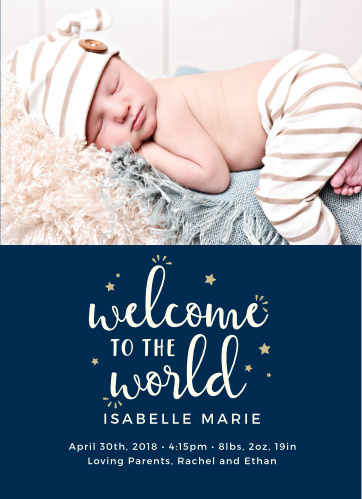 Tell the world your dreams came true with our Little Star Birth Announcements.