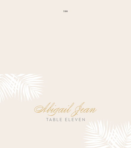 Use the subtle, relaxing elegance of our Palm Beach Place Cards to guide your guests to their seats.