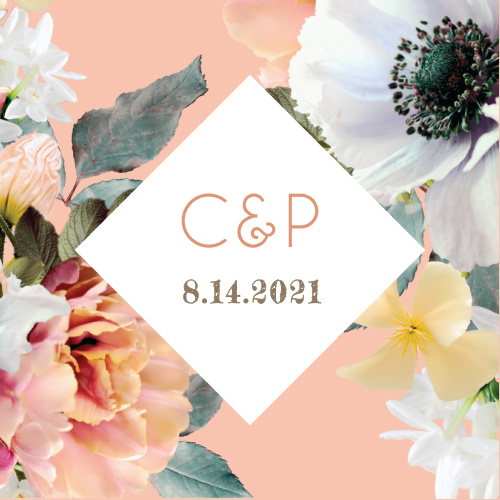 Our Dawn Flowers Wedding Stickers are heavily reminiscent of spring or summer.