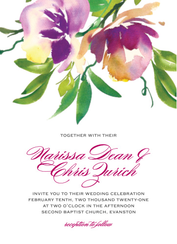 Enjoy the company of your friends and family when you use our Fresh Cut Flowers Wedding Invitations to invite them.