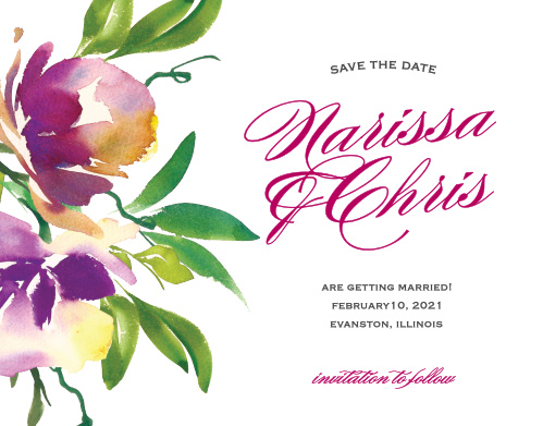 Make a spot on everyone's calendar with our Fresh Cut Flowers Wedding Save the Date Magnets.