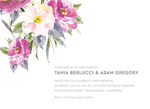 Let your love flower with our Simple Spring Wedding Invitations.
