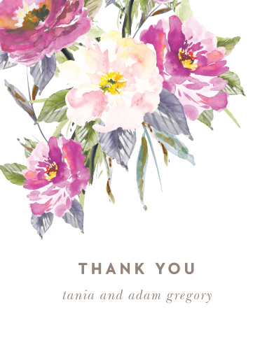 Let your love flower with our Simple Spring Wedding Thank You Cards.