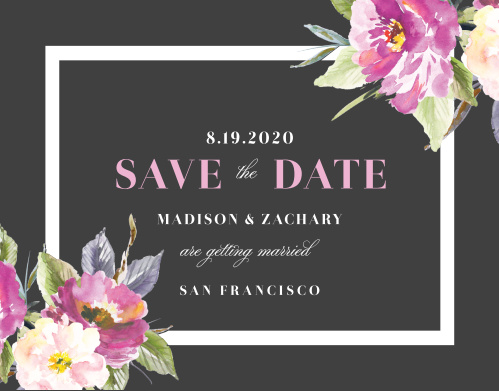 Make a spot on everyone's calendar with our Luxe Roses Wedding Save the Date Cards.