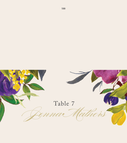 Treat your friends and family to unforgettable experience with our Regal Arrangement Place Cards.