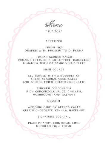 Our Rustic Doodle Wedding Menus have the rustic, hand-drawn look you've been looking for.