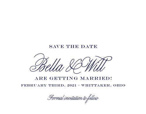 Give your guests the information they need months in advance with our stunning Pastel Watercolors Save-the-Date Cards. Swirling calligraphy, classic prints, and an ensemble of pastel florals cover the page, demanding special attention for your special day.
