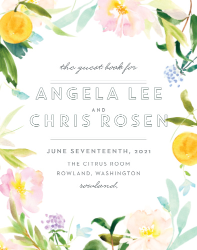 Make your wedding day unforgettable with our energetic Summer Bouquet Guest Book.
