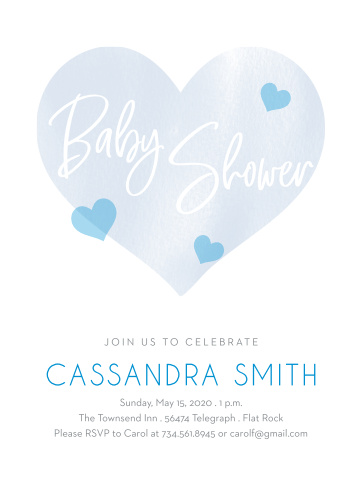 Our adorable Hearts of Love Baby Shower Invitations are the perfect invitation for your baby shower.