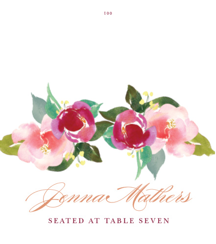 Treat your wedding guests to an unforgettable experience with our Maroon Bouquet Place Cards.