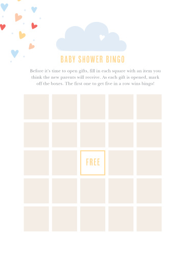 Keep the magic and surprise alive with our Showered With Love Baby Shower Bingo.