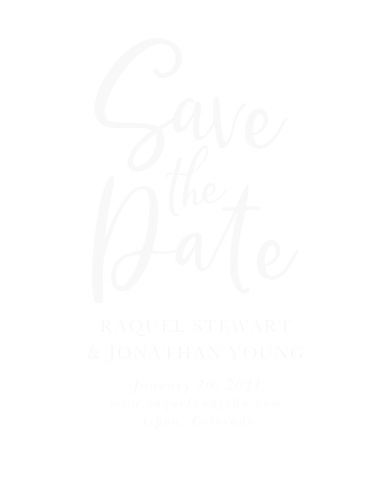 Our stunning Casual Script Clear Save-the-Date Cards were designed with modern minimalism in mind.
