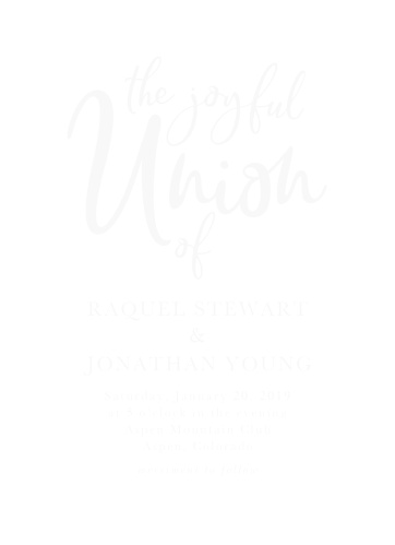 Our stunning Casual Script Clear Wedding Invitations were designed with modern minimalism in mind.