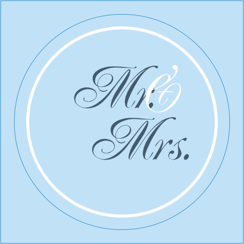 The Simple Border logo square is the perfect finishing touch for this or any wedding invitation set.