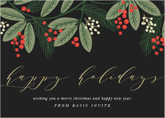 Business corporate holiday cards easy to design basic invite foliage frame corporate holiday cards reheart Gallery