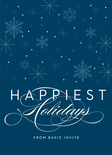Our Starry Snowflakes Corporate Holiday Cards capture the spirit of the holidays beautifully.