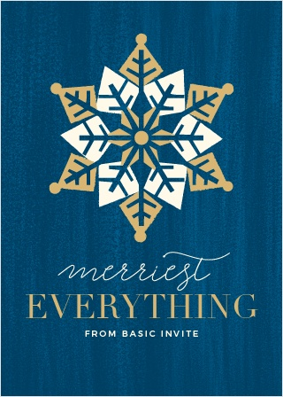 Our Geo Snowflake Corporate Holiday Cards have a beautiful retro look your employees will love.