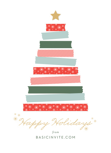 Business corporate holiday cards easy to design basic invite washi tree corporate holiday cards reheart Gallery