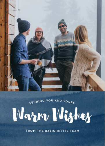 Choose our Warm Wishes Corporate Holiday Cards to express gratitude and well wishes to both your customers and employees this holiday season!