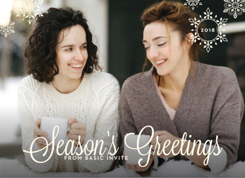 Our Snowflake Winter Corporate Holiday Cards are picture perfect.