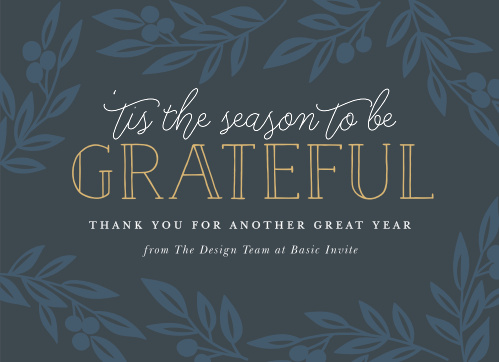 Show your appreciation this holiday season with our So Grateful Corporate Holiday Cards.
