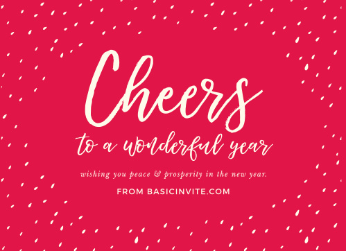 Send out your company-wide well-wishes with our stunningly simple Speckled Cheers Corporate Holiday Cards. A white script swirls across the red background, surrounded by the soft white specks of fresh snow. With these gorgeous cards, your employees will understand just how much you appreciate them.