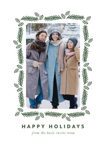Spread some holiday joy with our Pine Wreath Corporate Holiday Cards.