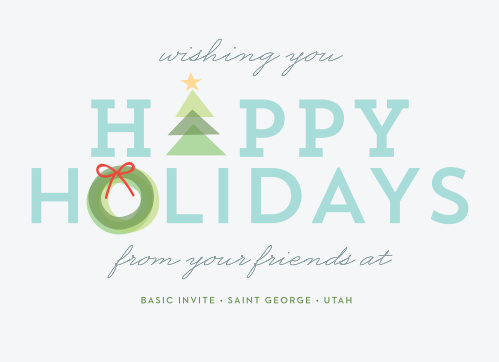 Our Holiday Icons Corporate Holiday Cards will fill your employees with the holiday spirit this season.