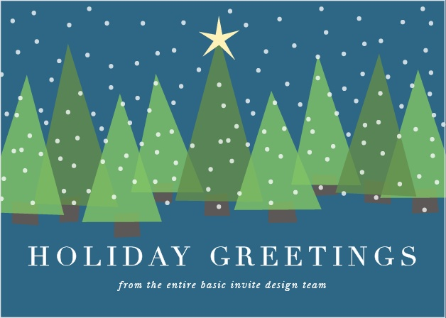 Send our festive Holiday Trees Corporate Holiday Cards this holiday season.