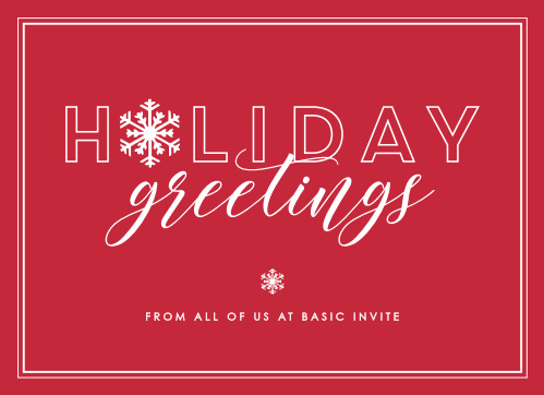 Send our festive Jolly Snowflakes Corporate Holiday Cards this holiday season.