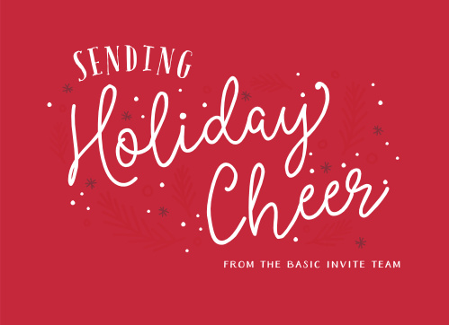 Our Scripted Cheer Corporate Holiday Cards will warm the hearts of anyone you send them to.