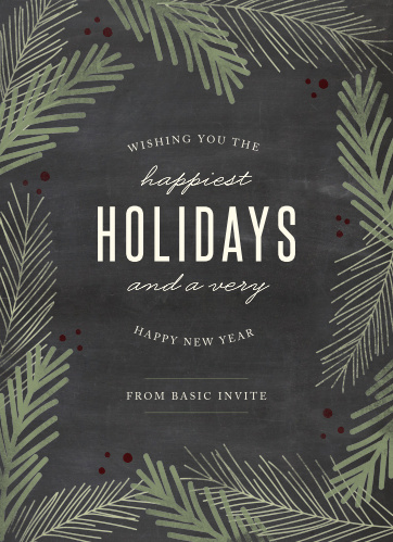 Send our Holiday Vines Corporate Holiday Cards to your employees this special time of year.