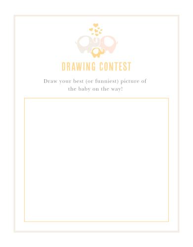 Delight your shower guests with our adorable Baby Elephant Baby Drawing Contest.