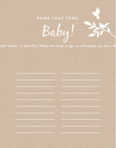 Scramble to think of the most original song titles with our simple, but hilarious, Kraft Woodland Baby Song Contest.
