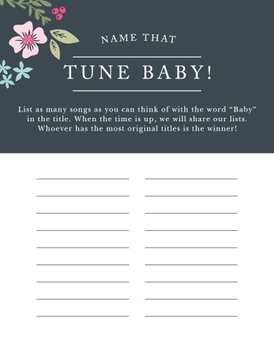 Scramble to think of the most original song titles with our simple, but hilarious, Garden Flowers Baby Song Contest.