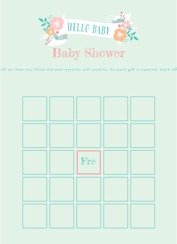 Baby Shower Games Match Your Color Style Free Basic Invite