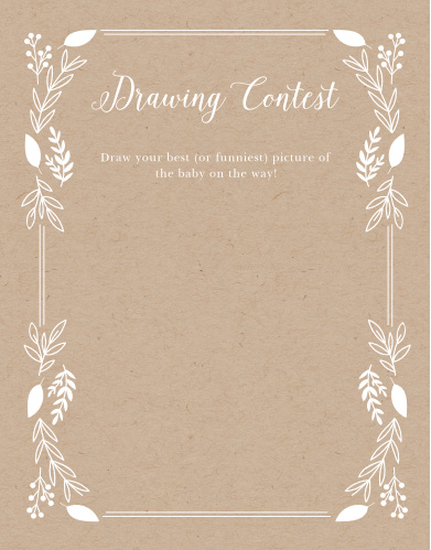 Our Petit Jardin Baby Drawing Contest is a perfect fit for your elegant baby shower.